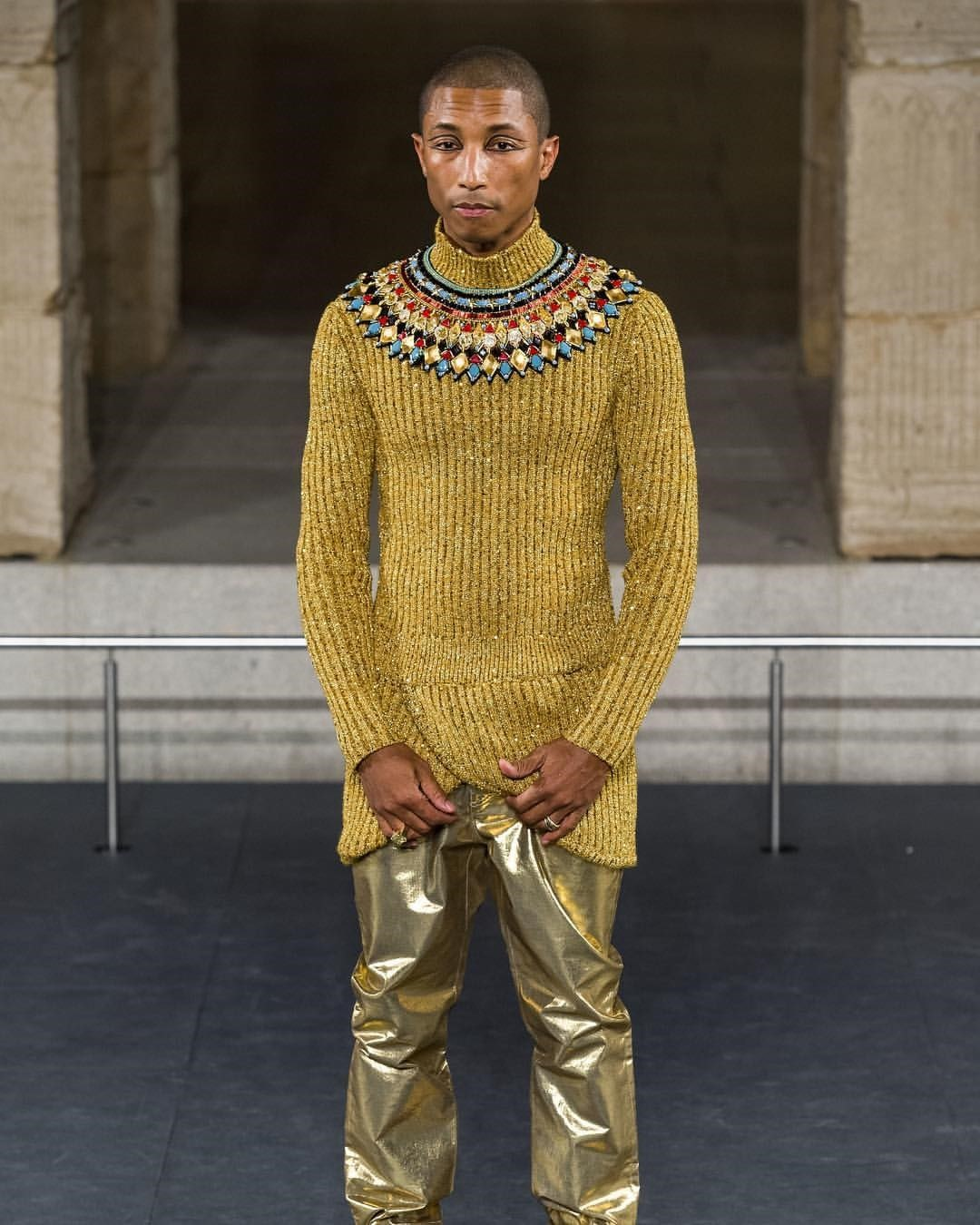 c3144105bcc2e Pharrell Williams just walked in the latest Chanel show