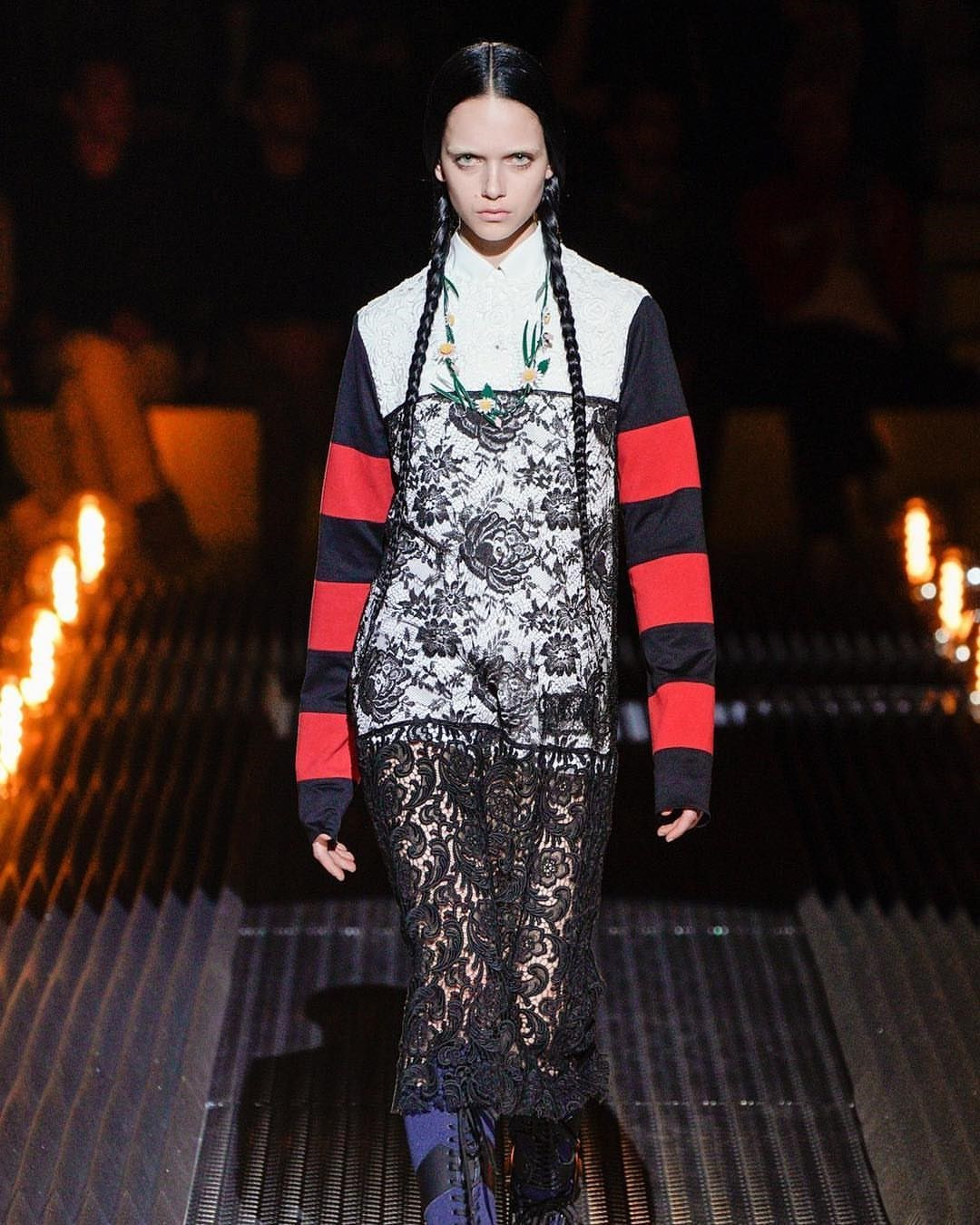 e6c2726001b Prada s new collection is inspired by goth icon Wednesday Addams   Dazed