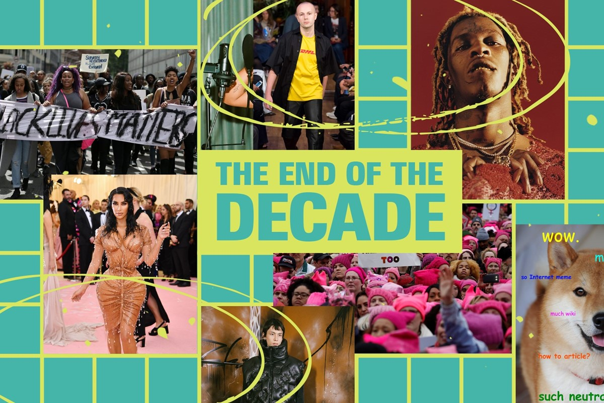 The End of The Decade Timeline from Dazed