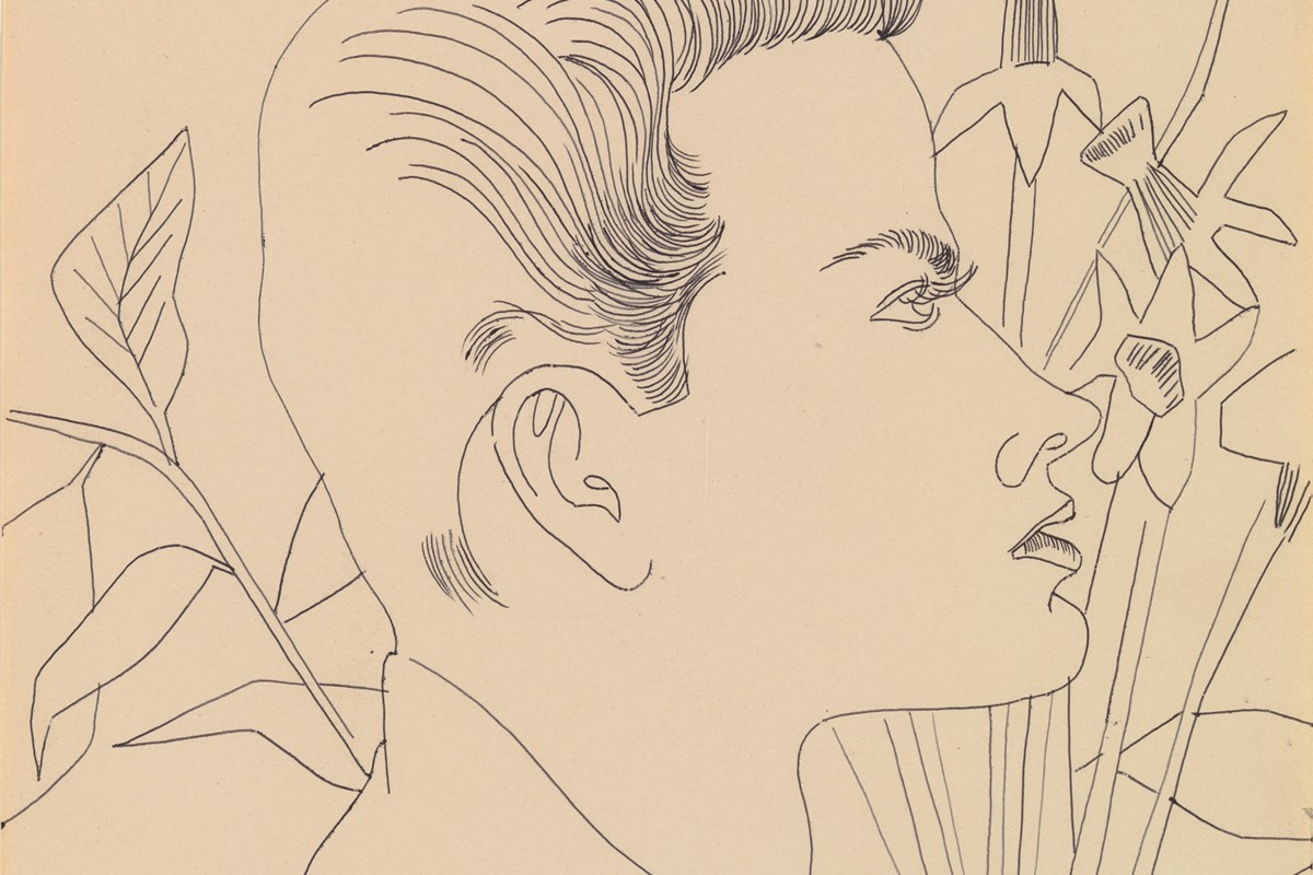 See Andy Warhol's erotic drawings of men for the first time