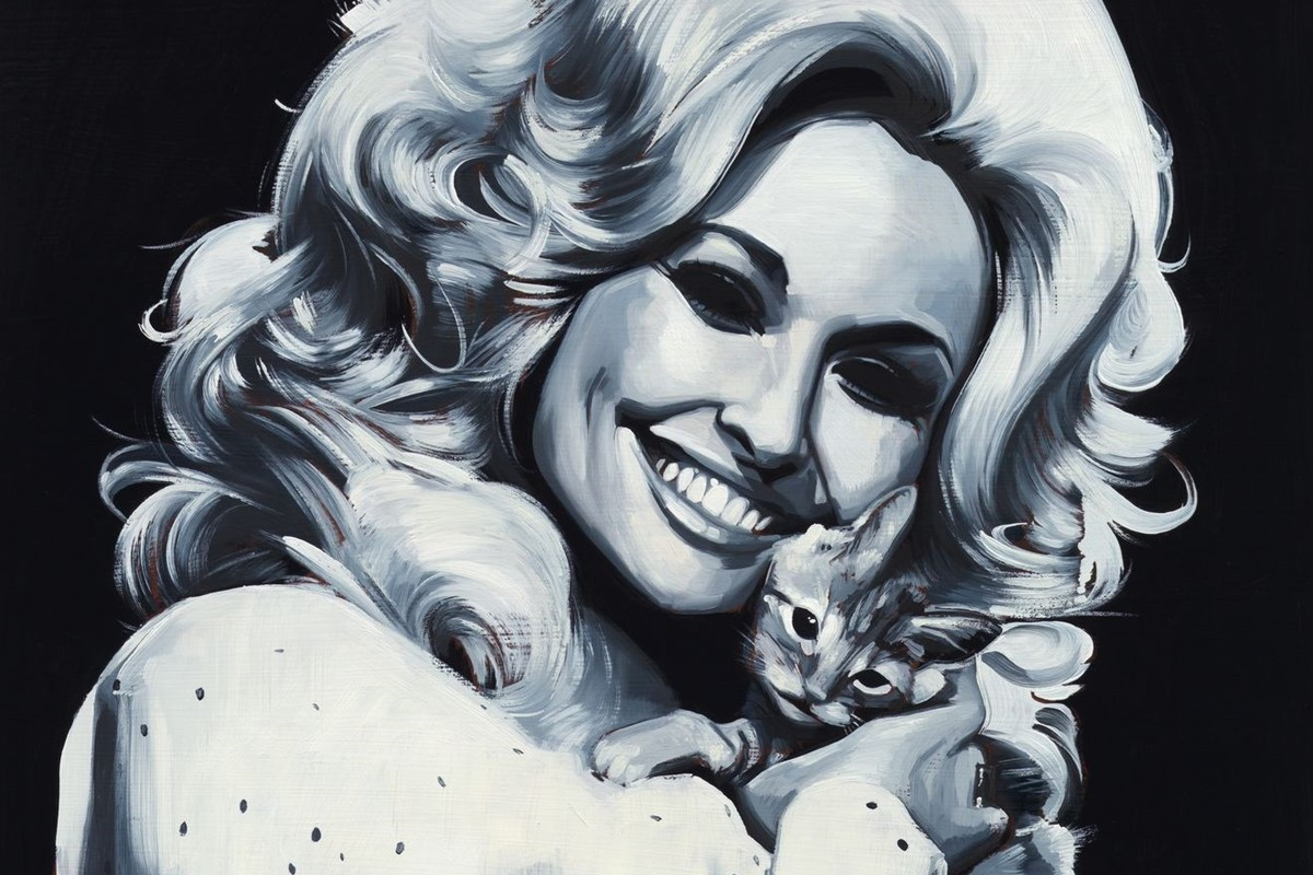 Sam McKinniss explores country music's allure with Dolly Parton art