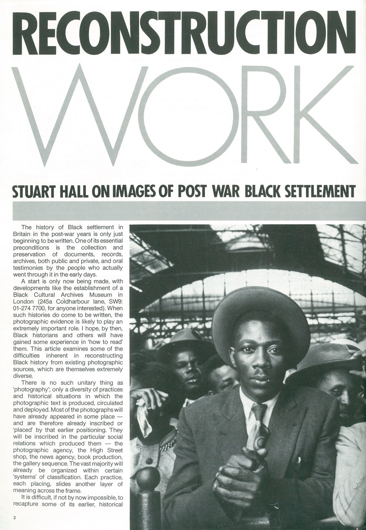 INSIDE THE STUART HALL LIBRARY ARCHIVES