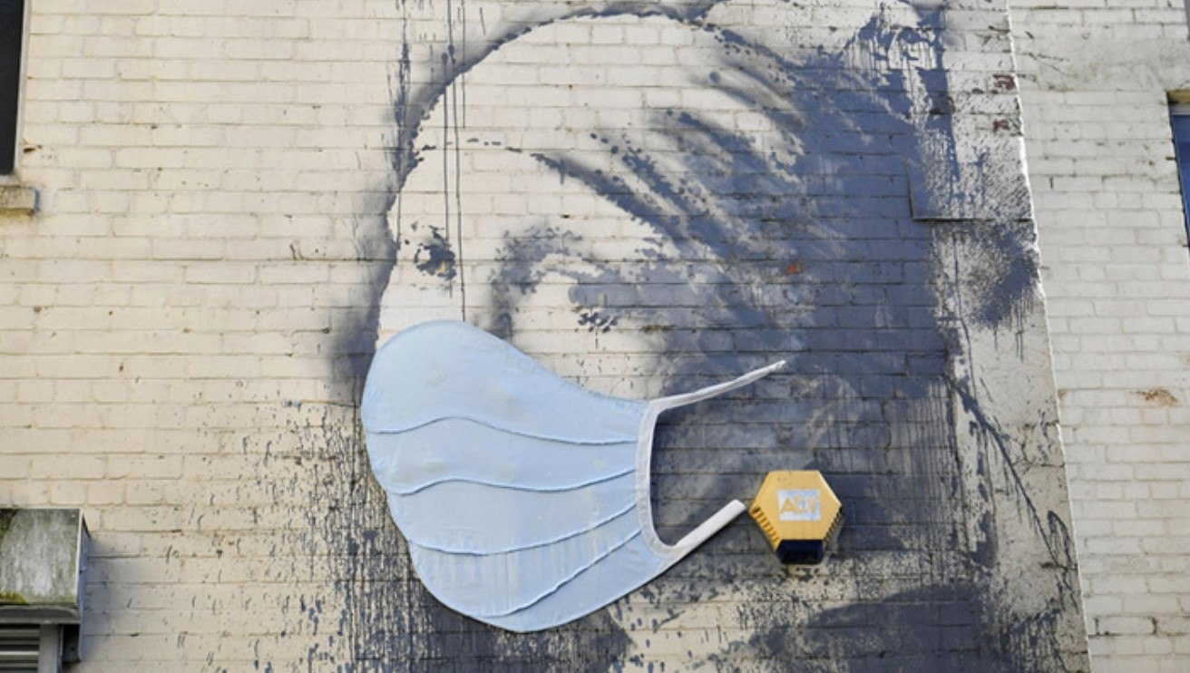 A Banksy mural has been given a coronavirus update | Dazed