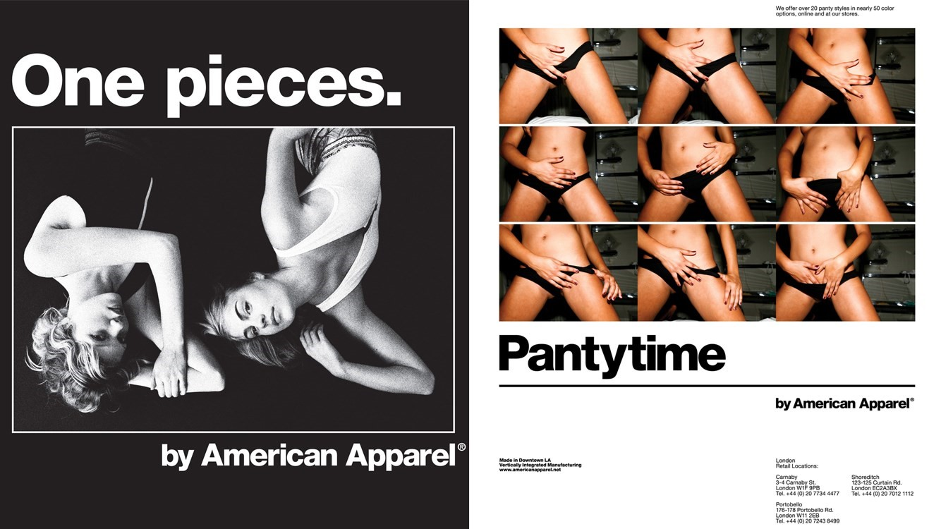 Archive American Apparel campaigns