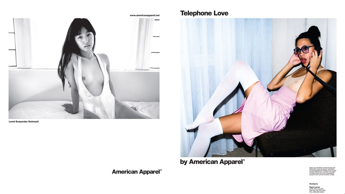 American apparel ad made in bangladesh, cheerleader tight