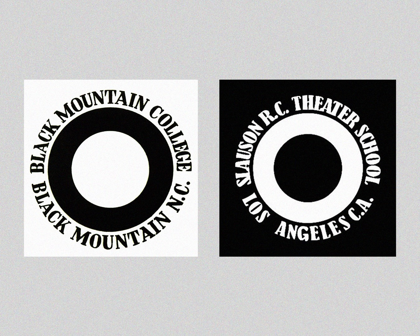 Slauson Rec and Black Mountain College logos