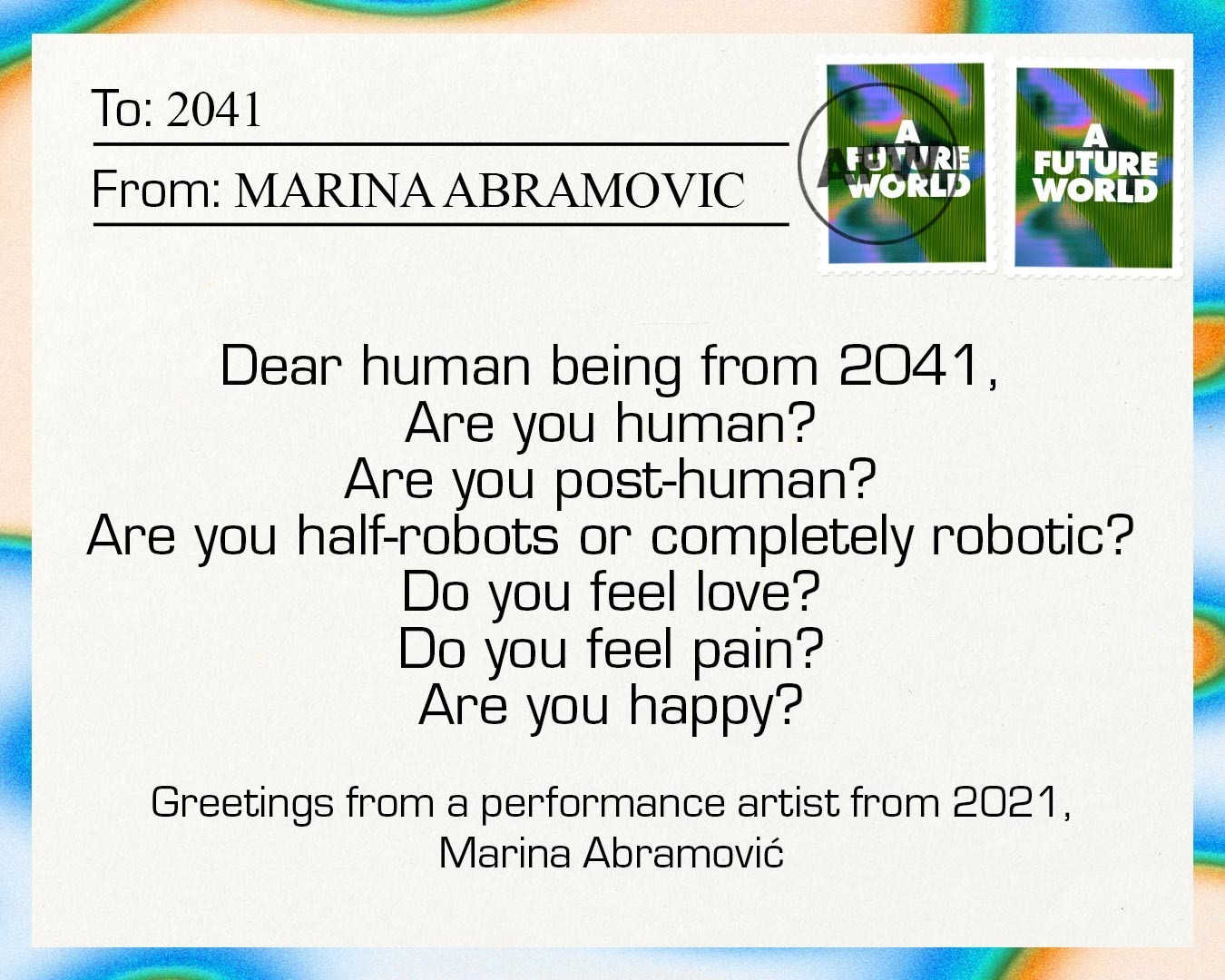 Postcards to the future 7