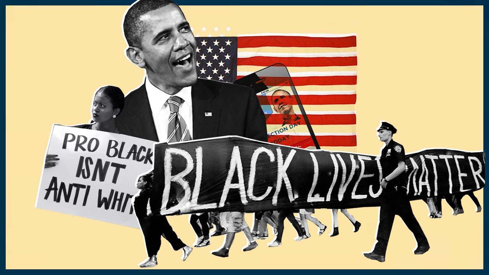 Obama, Black Lives Matter, Collage