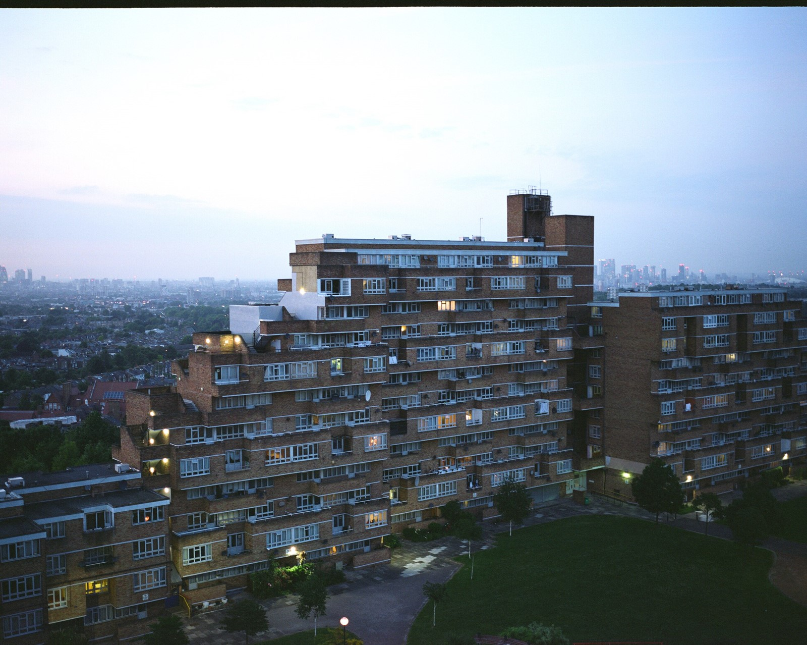 Dawson's Heights estate in East Dulwich Post War Housing