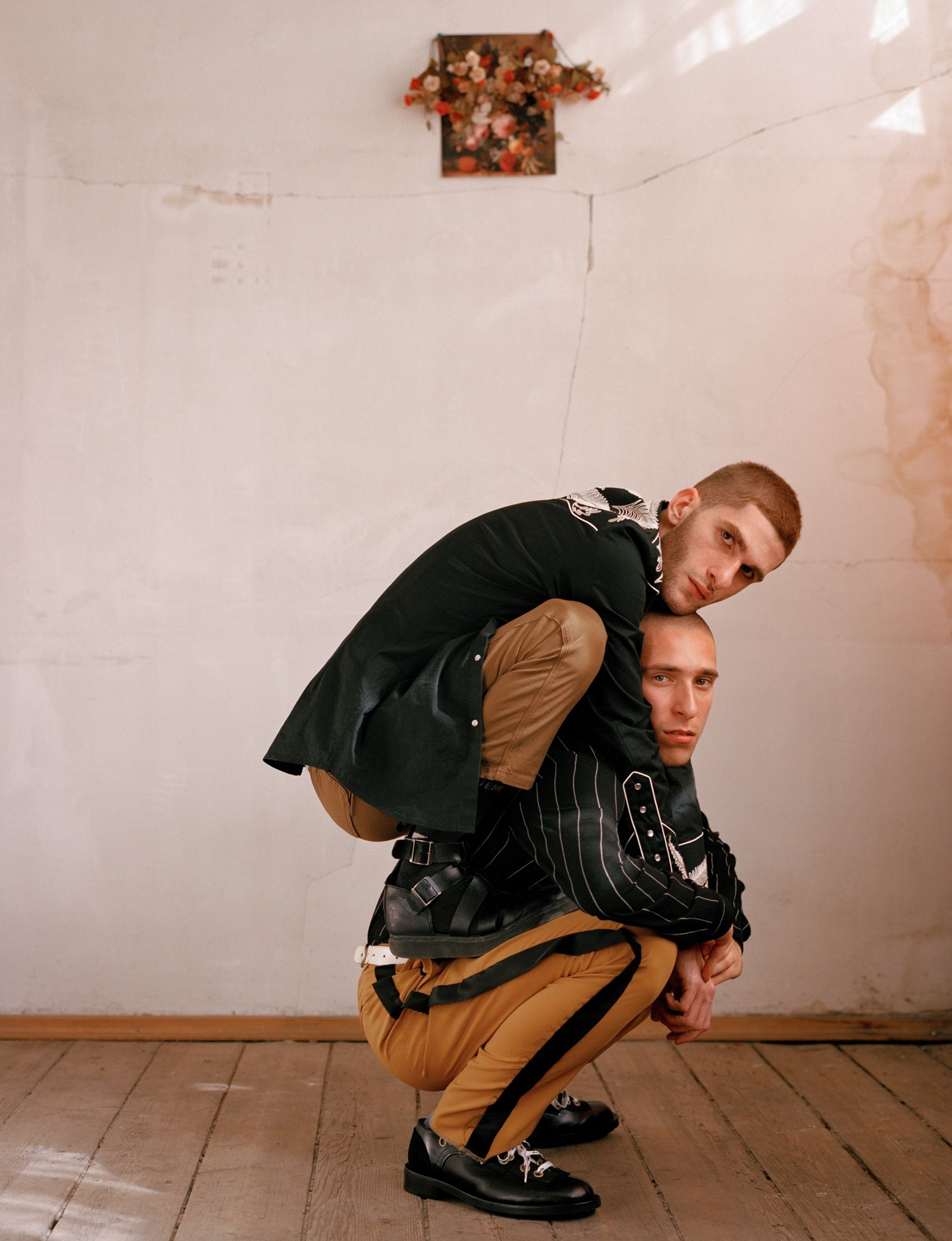Luka Bitchikashvili and David Apaqidze, performance artists