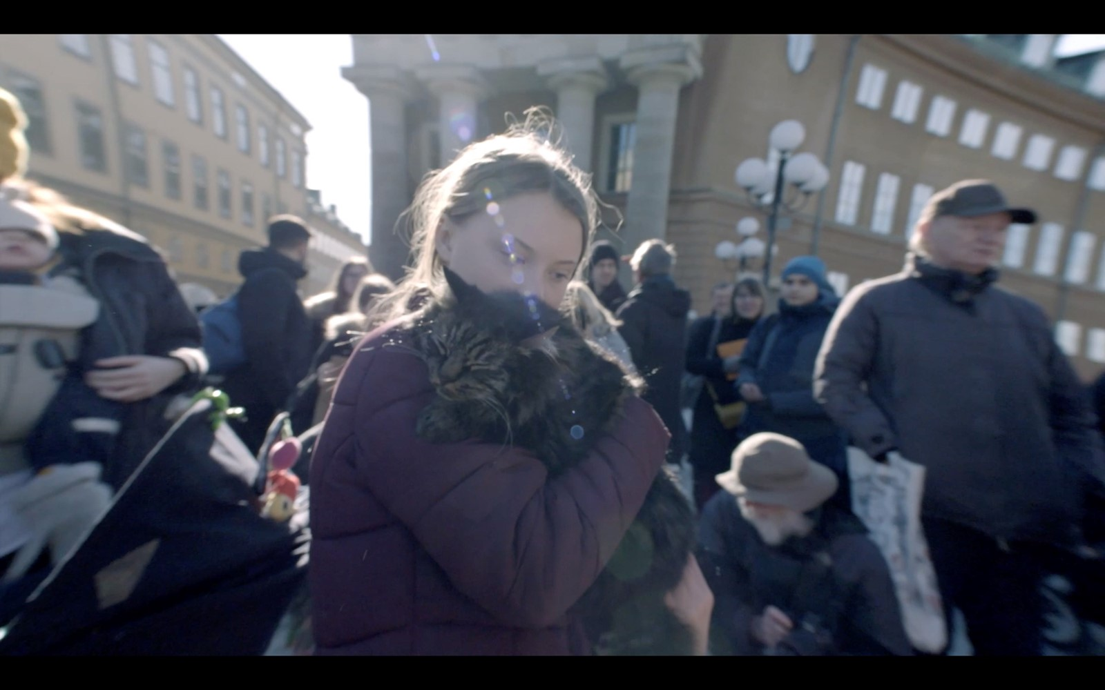 Greta Thunberg and a cat