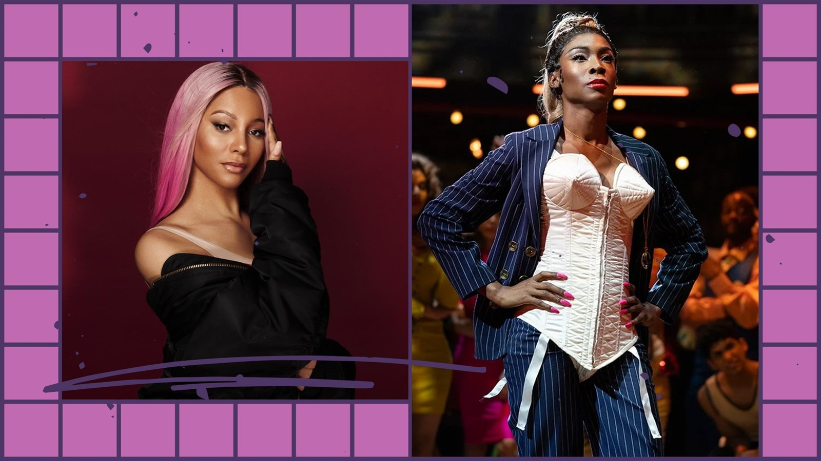 Munroe Bergdorf and Angelica Ross