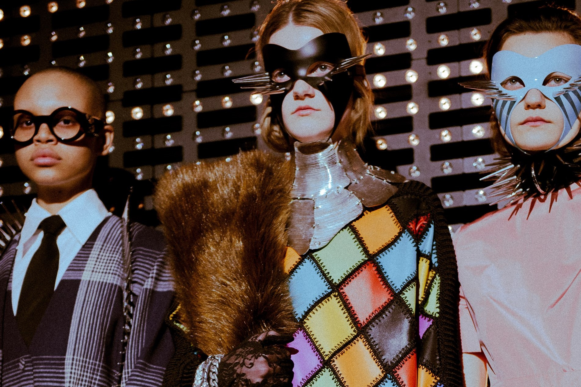 7b61ee2ee46 Gucci sent kinky leather masks and weeping models down the runway in Milan