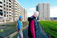 Fifth Element walking through the old Ballymun Tow