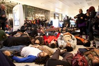 #ICantBreathe Eric Garner protests Westfield London 1