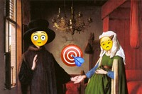 The Arnolfini Portrait - emoji Jan Van Eyck 1