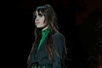 Versace AW15 Dazed runway womenswear turtleneck green suit 14