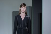 Jil Sander AW15, Dazed runway, Womenswear, Striped Dress 3