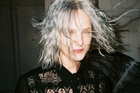 Anemari backstage at Theyskens' Theory