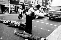 (1) Simon Dack: Activists lie in the road blockin 2