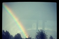 The biggest rainbow I have ever seen... on my way