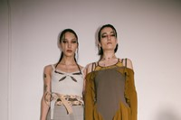 Backstage at the AW20 Charlotte Knowles show womenswear 7 6