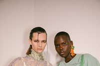 Backstage at the AW20 Charlotte Knowles show womenswear 12 11
