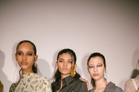 Backstage at the AW20 Charlotte Knowles show womenswear 16 15