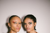 Backstage at the AW20 Charlotte Knowles show womenswear 21 20
