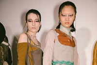 Backstage at the AW20 Charlotte Knowles show womenswear 23 22