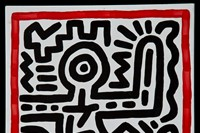 """Keith Haring. """"Untitled (figure)"""" (1982). 5"""