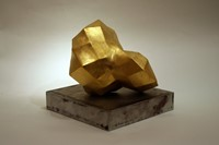 Folding Space (view 1) gold leaf & ceramic 16