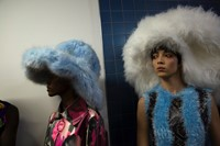 Backstage at the AW20 Central Saint Martins MA fashion show 1
