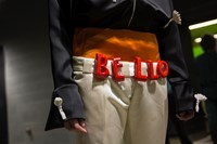 Backstage at the AW20 Central Saint Martins MA fashion show 24