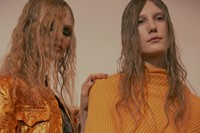 Marques'Almeida AW15 Womenswear Metallic Gold Jacket Yellow 1