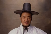 Nam June Paik as Korean emperor ©Eric Kroll 1