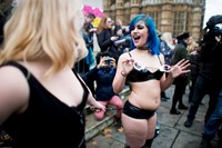 Westminster mass face-sitting UK porn ban protest 10