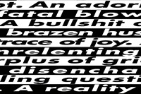"""Barbara Kruger, still from the video """"Untitled (No Comment)"""" 5"""