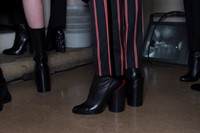 Givenchy AW15, Dazed, Womenswear, Stripe Trousers,Block Heel 16