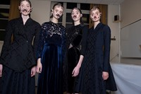 Givenchy AW15, Dazed, Womenswear, Velvet, Baroque Pattern 9
