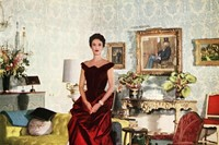 Babe Paley in a crimson James gown, 1950 Courtesy 5