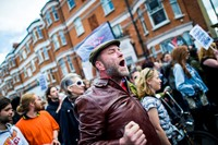 Anti-gentrification protest Reclaim Brixton in London 1