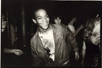 Jean dancing at the Mudd Club with painted t-shirt, 1979 6