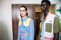 Backstage at Benetton SS20 20 19