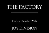 Factory Records, FAC3, The Factory poster 2