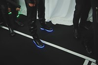 Philipp Plein AW15 Shoes Sneakers Light Up LED Blue Detail 26