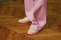 Walter Van Beirendonck AW15 Pink Trousers Suede Trainers 31