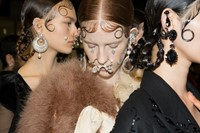 Givenchy AW15, Dazed, Womenswear, Nose Rings, Plaits 1