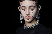 Givenchy AW15, Dazed, Womenswear, Pearl Jewellery, Oval 12