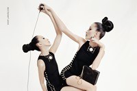 Anna Cleveland and Pat Cleveland for Lanvin SS15 2